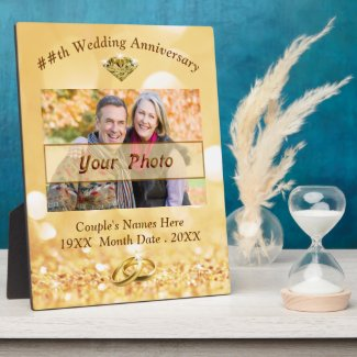 Personalized Photo 50th Wedding Anniversary Plaque