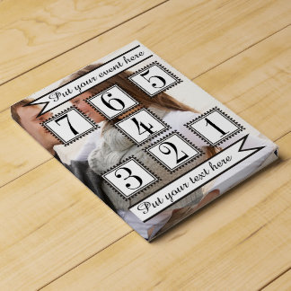 Personalized photo 7-day countdown calendar