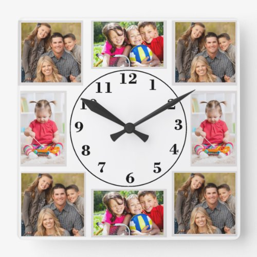 Put Your Own Family Photos on a Clock - Personalized Photo Album Wall Clock
