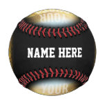 PERSONALIZED Photo And Name Black Circle Baseball