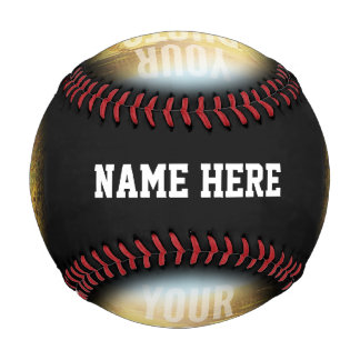 PERSONALIZED Photo And Name Black Circle Baseball