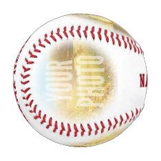Personalized Photo And Name Circle Baseball at Zazzle
