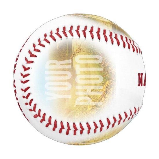 PERSONALIZED Photo And Name Circle Baseball