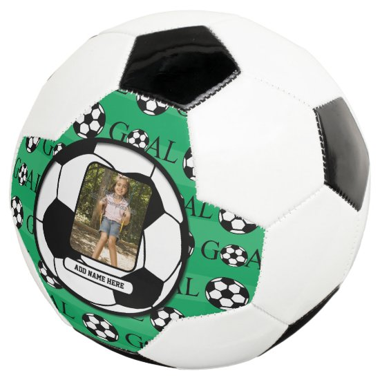Personalized Photo and Name Soccer Ball