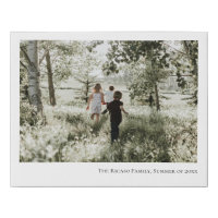 Personalized Photo and Text Faux Canvas Print