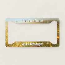 PERSONALIZED PHOTO and TEXT License Plate Frame