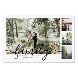 Personalized Photo and Text Photo Collage Family