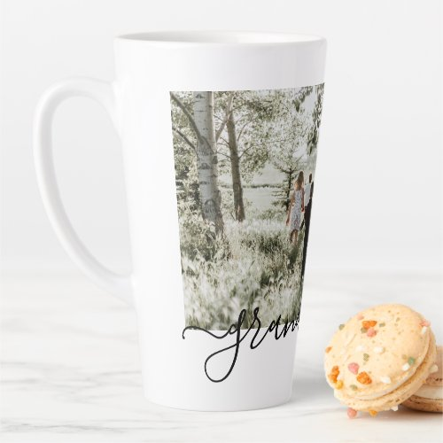 Personalized Photo and Text Photo Collage Family Latte Mug