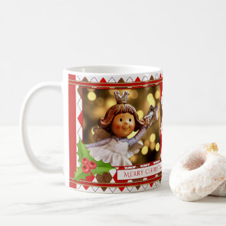 Personalized Photo Angel Christmas Mug