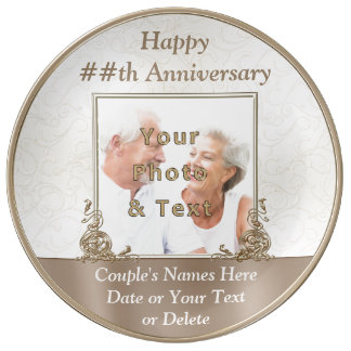 Personalized Photo Anniversary Gifts by Year Porcelain Plate