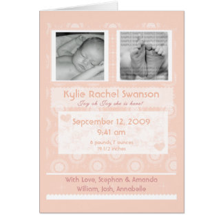 Personalized Photo Baby Birth Announcement Card