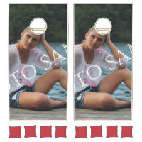 Personalized photo Bean Bag Toss. Make your own! Cornhole Set