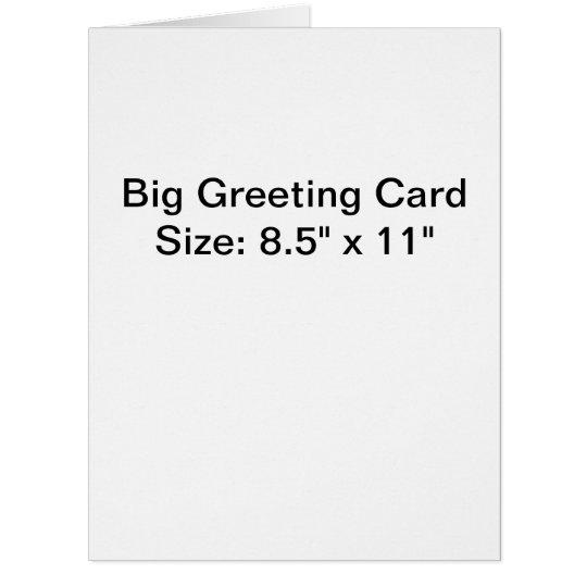 "Big (8.5"" x 11""), Standard white envelopes included"