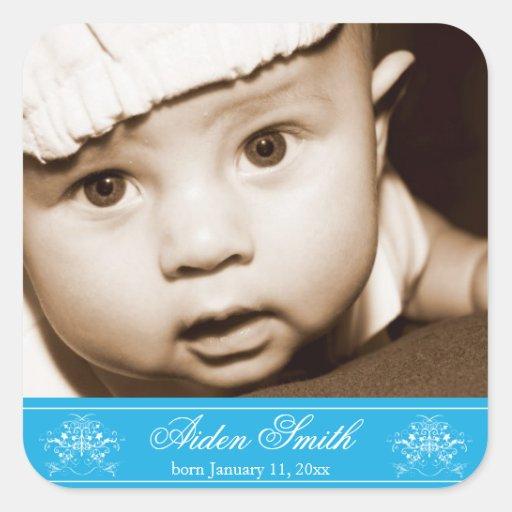 Personalized Photo Birth Announcement Sticker