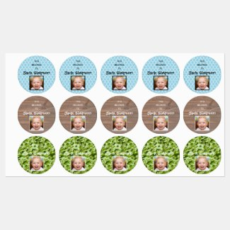 Personalized Photo Boy - Kid's Labels