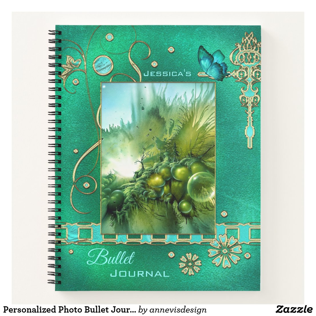 Personalized Photo Bullet Journal Spiral Notebook