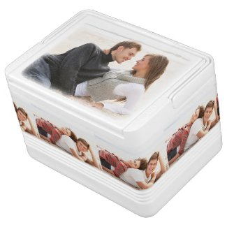 Personalized photo can cooler. Make your own!