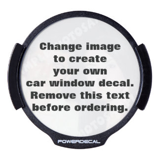 Make LED Window Decals Car Window Stickers Zazzle - Make your own window decal