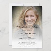 Personalized Photo Celebration of Life Funeral Invitation