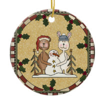 Personalized Photo Ceramic Christmas Ornament