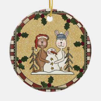 Personalized Photo Ceramic Christmas Ornament