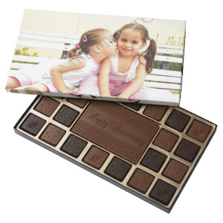 Personalized photo chocolate box. Make your own! 45 Piece Assorted Chocolate Box