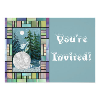 Personalized Photo Christmas Caroling Party Personalized Invites