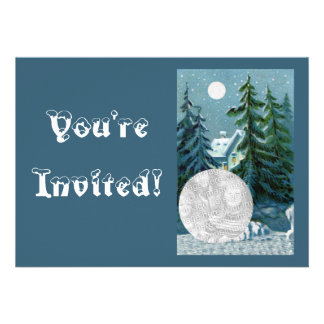 Personalized Photo Christmas Cookie Swap Party Invitations