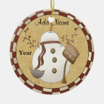 Personalized Photo Christmas Snowman Ornament