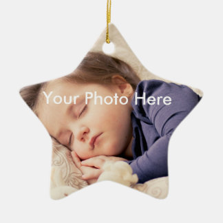 Personalized Photo Christmas Star Ornament