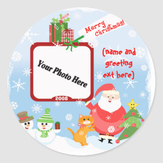 Personalized Photo Christmas Stickers