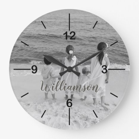 Personalized Photo Clock Customized with Name