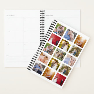 Personalized Photo Collage 15 Photos Planner