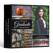 Personalized Photo Collage Celebrate the Graduate 3 Ring Binder