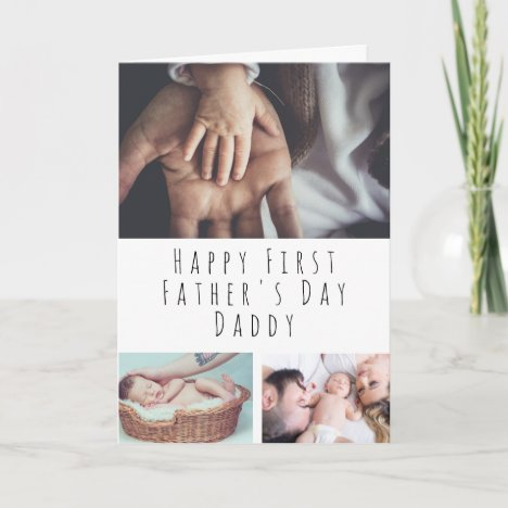 Personalized Photo Collage First Father's Day Card