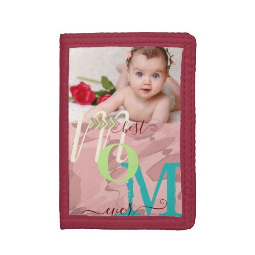 Personalized Photo Collage For Her Trifold Wallet