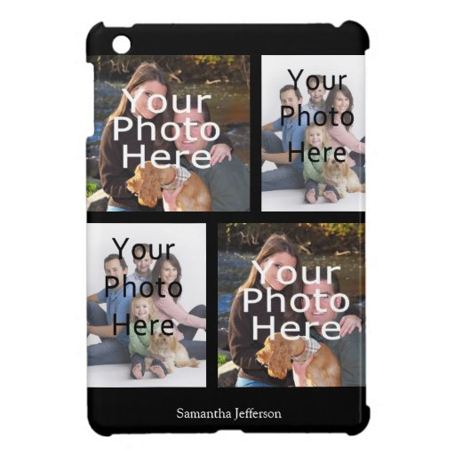 Personalized Photo Collage iPad Case, 4 Photos