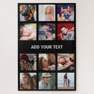 Personalized Photo Collage Jigsaw Puzzle