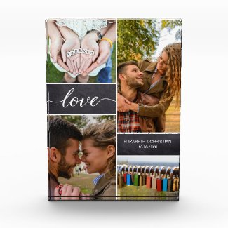 Personalized Photo collage Love Script Anniversary