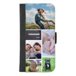 Personalized, photo collage, tiled, #blessed iPhone 8/7 plus wallet case