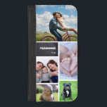 "Personalized, photo collage, tiled, #blessed iPhone 8/7 plus wallet case<br><div class=""desc"">Protect your phone and choose your most beloved photos to cover this case. Easily customize the images,  text and initials.</div>"