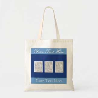 Personalized photo collage tote bag | 3 pictures
