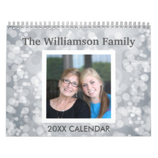 Personalized Photo - Colorful Patterns 17 Family Calendar
