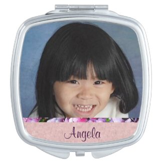 Personalized Photo Compact Mirror For Makeup