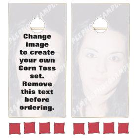Personalized photo Corn Toss set. Make your own! Cornhole Sets