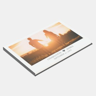 Personalized Photo Couple Wedding Guest Book