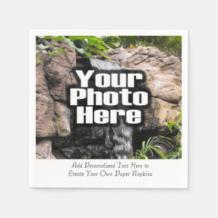 Personalized Photo Custom Digital Picture Imprint Paper Napkin at Zazzle