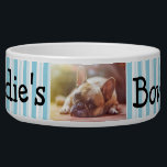 "Personalized Photo Dog Bowl<br><div class=""desc"">Great custom pet gift for dog or cat owners. Add your dog&#39;s picture to this cute dog bowl with their name and paw prints.</div>"