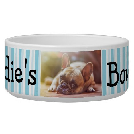 Personalized Photo Dog Bowl