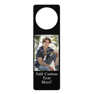 Personalized Photo Door Sign Doorknob Hanger